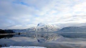 Montagne di inverno Fotografia Stock