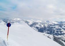 Montagne di inverno in Austria Fotografia Stock Libera da Diritti