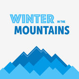 Montagne di inverno blu Fotografia Stock Libera da Diritti