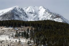 Montagne di inverno del Colorado Immagine Stock