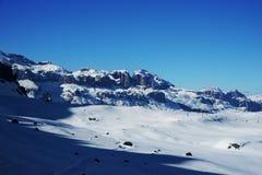 Montagne di inverno di Snowy Fotografia Stock