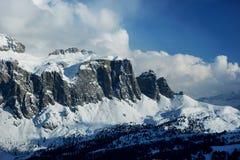 Montagne di inverno di Snowy Immagini Stock Libere da Diritti