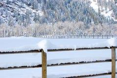 Montagne di inverno, Montana Fotografie Stock