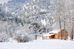 Montagne di inverno, Montana Fotografia Stock Libera da Diritti
