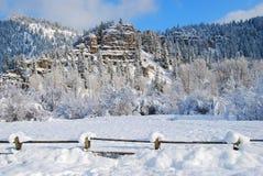 Montagne di inverno, Montana Fotografie Stock Libere da Diritti
