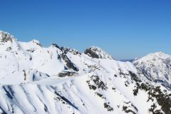 Montagne di inverno, stazione sciistica Rosa Khutor Fotografia Stock Libera da Diritti