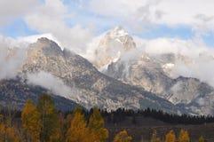 Montagne di Jackson Hole Wyoming Teton fotografie stock libere da diritti