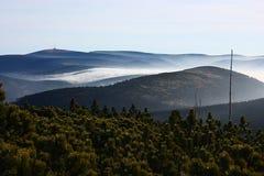 Montagne di Jeseniky Fotografie Stock Libere da Diritti