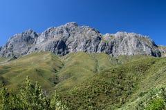 Montagne di Jonkershoek nel Sudafrica fotografia stock