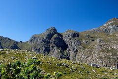 Montagne di Jonkershoek a Stellenbosch Sudafrica immagini stock