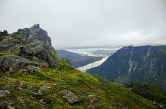 Montagne di Juneau Alaska Fotografie Stock