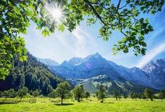 Montagne di Karwendel Fotografie Stock Libere da Diritti