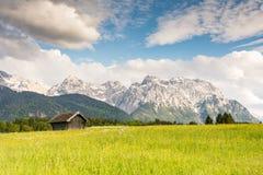 Montagne di Karwendel nelle alpi della Baviera Fotografie Stock Libere da Diritti