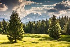 Montagne di Karwendel nelle alpi della Baviera Immagini Stock Libere da Diritti