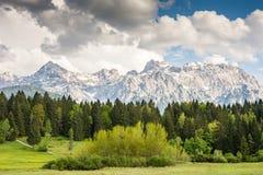 Montagne di Karwendel nelle alpi della Baviera Immagine Stock Libera da Diritti