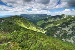 Montagne di Krkonose in repubblica Ceca fotografia stock libera da diritti