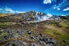 Montagne di Landmannalaugar, Islanda Fotografia Stock Libera da Diritti