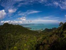 Montagne di LangKawi fotografie stock