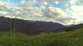 360 montagne di lasso di tempo di pano archivi video