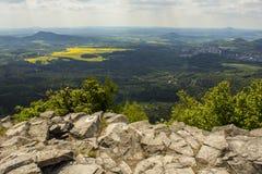 Montagne di Lusatian Fotografie Stock