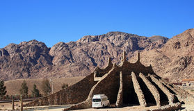 Montagne di Nuweiba fotografie stock libere da diritti