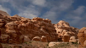 Montagne di PETRA, Giordania, Medio Oriente stock footage