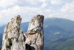 Montagne di Rarau e le rocce del ` s di signora Fotografia Stock Libera da Diritti