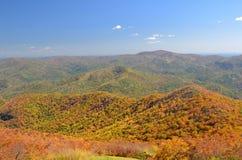 Montagne di Ridge blu Fotografie Stock Libere da Diritti
