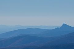 Montagne di Ridge blu fotografie stock