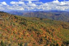 Montagne di Ridge blu in autunno Fotografie Stock Libere da Diritti