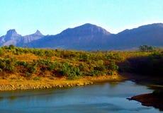 Montagne di Sahyadri Fotografie Stock