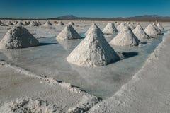 Montagne di sale Immagini Stock Libere da Diritti