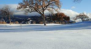 Montagne di Sandia con neve Fotografia Stock