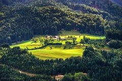 Montagne di Shtiria, Austria, ad estate Immagini Stock Libere da Diritti