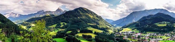 Montagne di Shtiria, Austria, ad estate Fotografia Stock Libera da Diritti