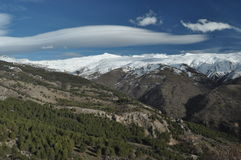 Montagne di Sierra Nevada in Spagna del sud Immagine Stock Libera da Diritti