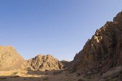 Montagne di Sinai all'alba Fotografie Stock Libere da Diritti