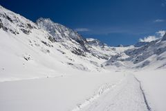 Montagne di Snowy, Austria Fotografie Stock