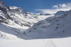 Montagne di Snowy, Austria Fotografia Stock