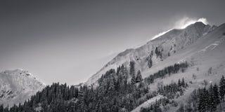 Montagne di Snowy che spolverano in Austria Immagini Stock Libere da Diritti