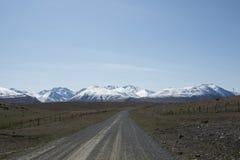 Montagne di Snowy nelle alpi della Nuova Zelanda Fotografie Stock Libere da Diritti