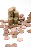 Montagne di soldi Fotografia Stock