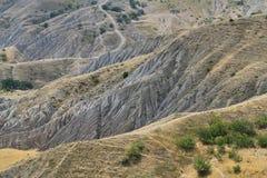 Montagne di Stoy della Crimea e delle tracce immagini stock libere da diritti