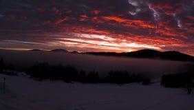 Montagne di Sumava fotografia stock