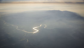 Montagne di Taihang e del fiume Giallo Fotografia Stock