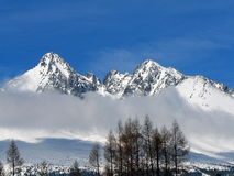 Montagne di Tatra in inverno Fotografia Stock Libera da Diritti