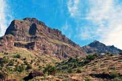 Montagne di Teno e villaggio di Masca Fotografia Stock Libera da Diritti