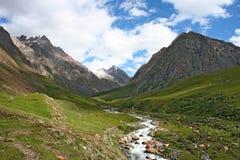 Montagne di Tien Shan, Kirghizistan Immagine Stock