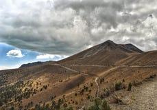 Montagne di Toluca in parco nazionale nevado de toluca immagine stock libera da diritti