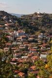 Montagne di Troodos nella città della Cipro Immagini Stock Libere da Diritti